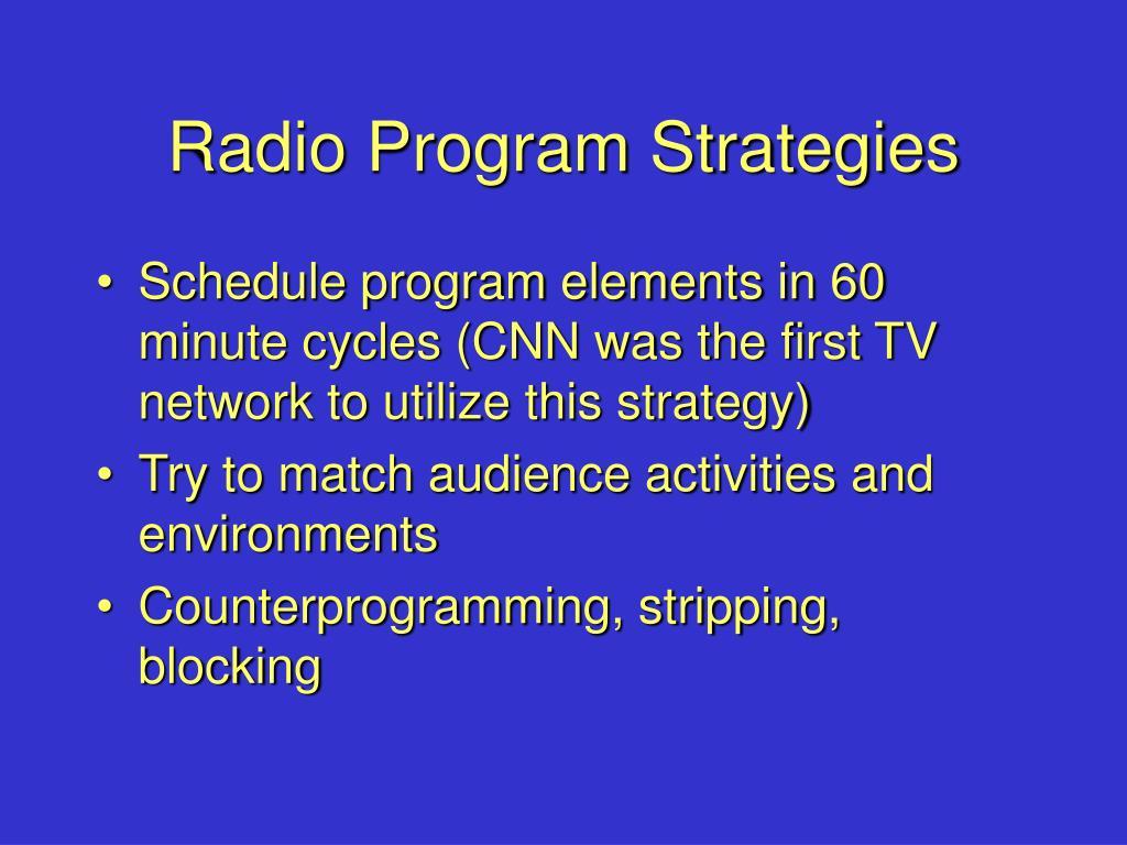 Radio Program Strategies