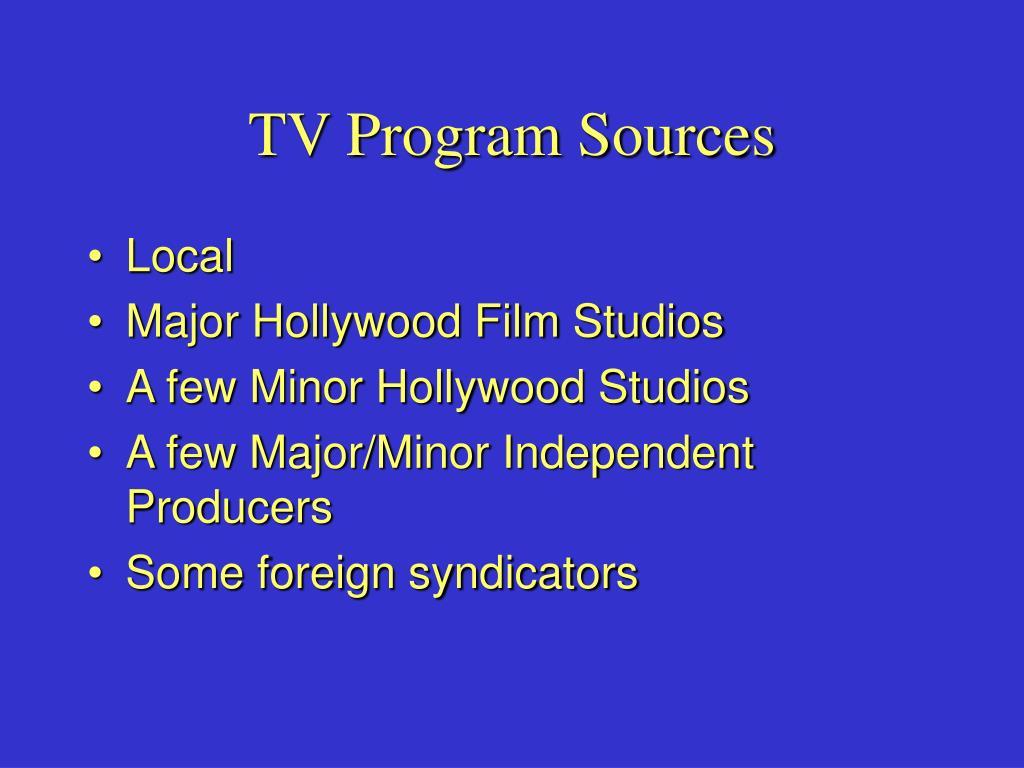 TV Program Sources