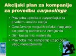 akcijski plan za kompanije za provedbu carpoolinga