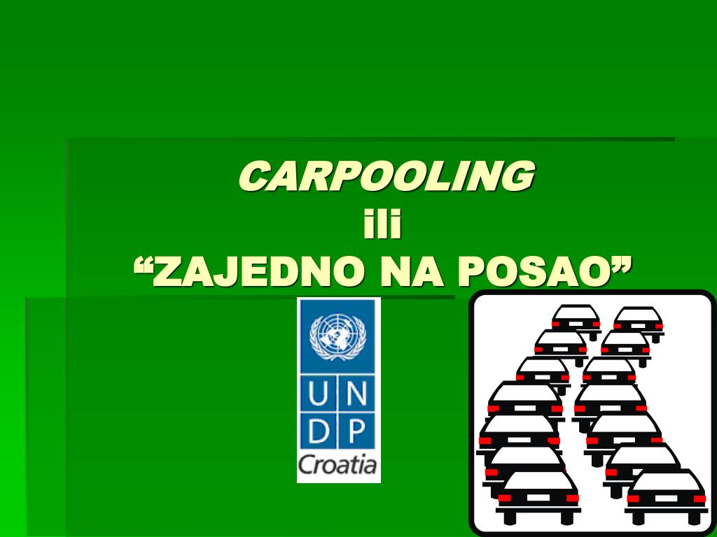 carpooling ili zajedno na posao l.