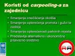 koristi od carpooling a za zajednicu