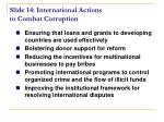 slide 14 international actions to combat corruption