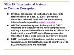 slide 15 international actions to combat corruption