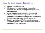slide 16 civil society initiatives