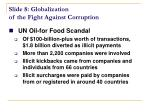 slide 8 globalization of the fight against corruption