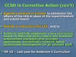 ccsd in corrective action con t13