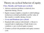 theory on cyclical behavior of equity14