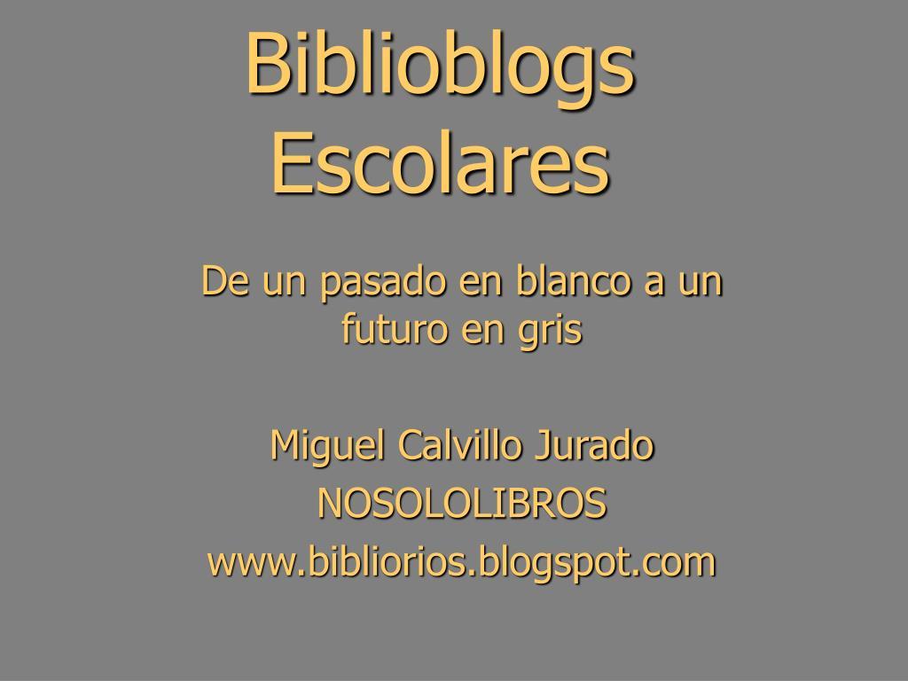 biblioblogs escolares l.
