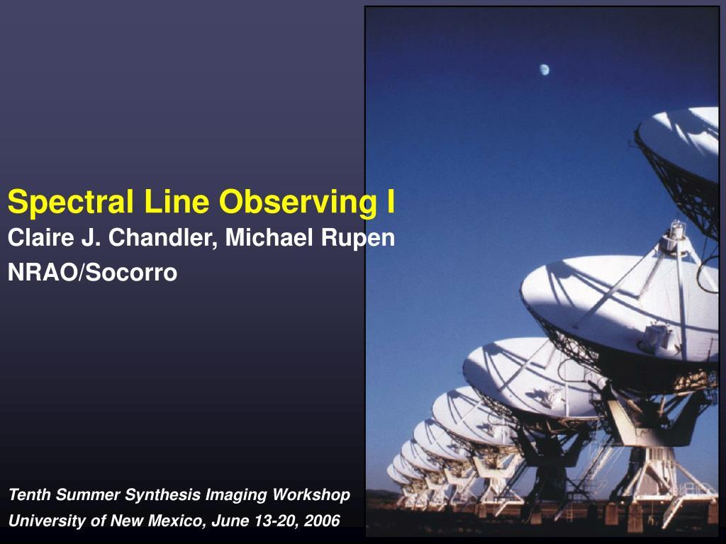 spectral line observing i l.