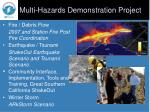 multi hazards demonstration project