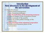 introduction new directions in the development of the universities