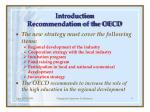 introduction recommendation of the oecd