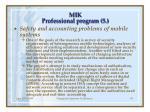 m ik professional program 5