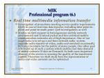 m ik professional program 6