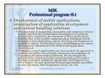 m ik professional program 8