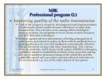 mik professional program 2