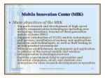 mobile innovation cent er mik