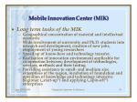 mobile innovation cent er mik26