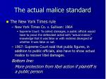 the actual malice standard