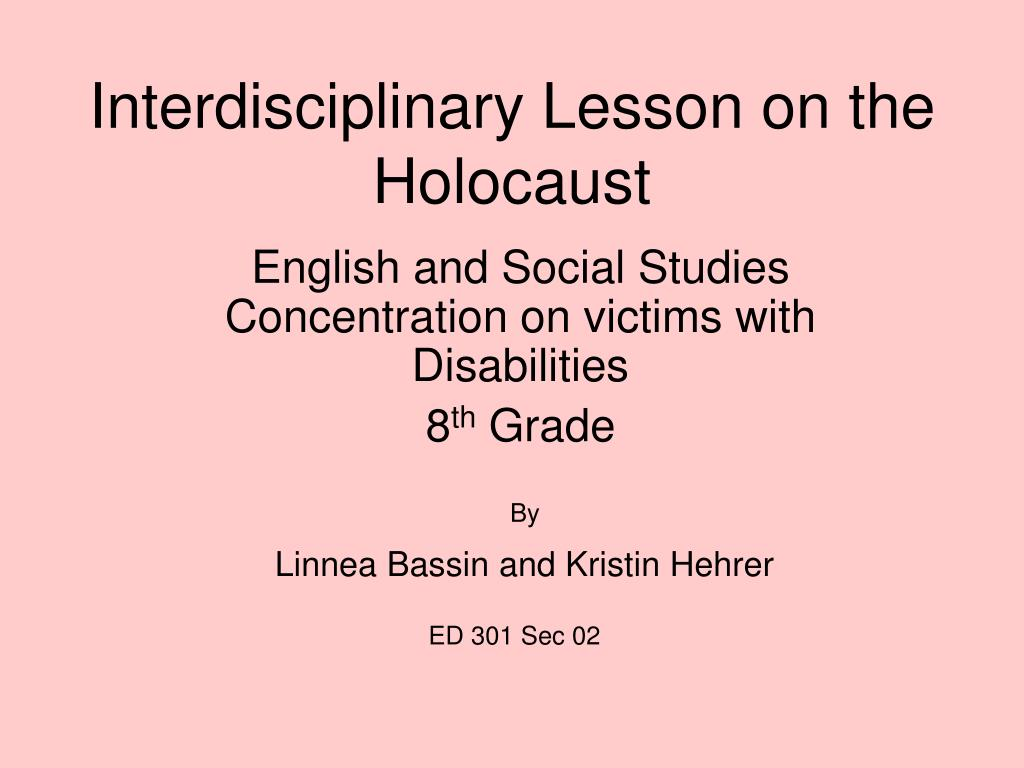 interdisciplinary lesson on the holocaust l.