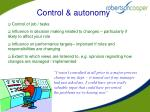 control autonomy