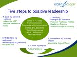five steps to positive leadership29