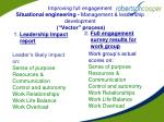 improving full engagement situational engineering management leadership development vector process