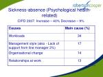 sickness absence psychological health related