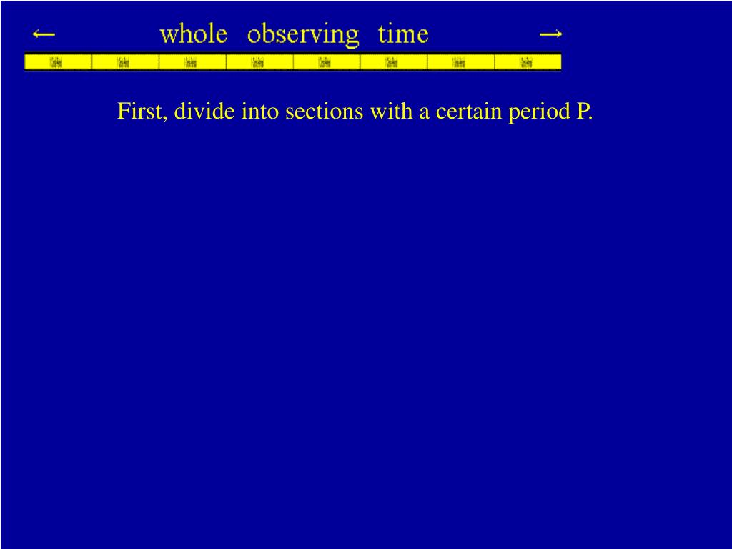 First, divide into sections with a certain period P.