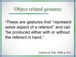 object related gestures