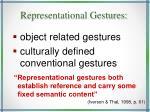 representational gestures