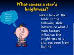 what causes a star s brightness