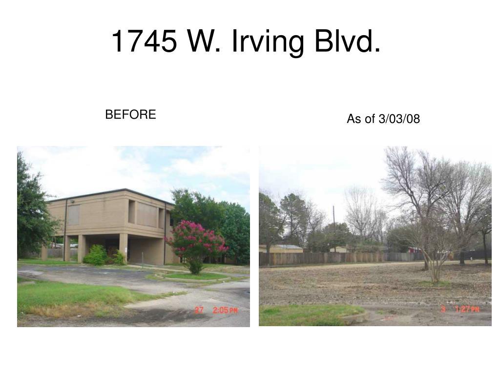 1745 W. Irving Blvd.