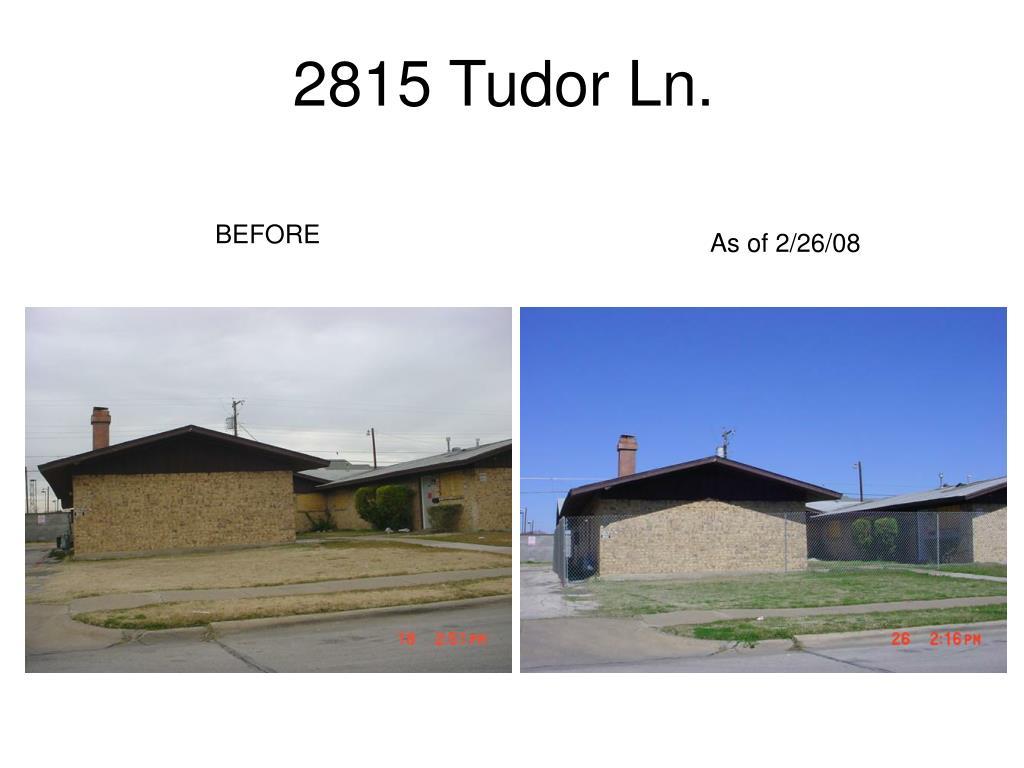 2815 Tudor Ln.
