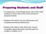 preparing students and staff