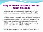 why is financial education for youth needed3