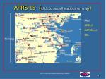 aprs is click to see all stations on map
