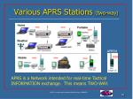 various aprs stations two way