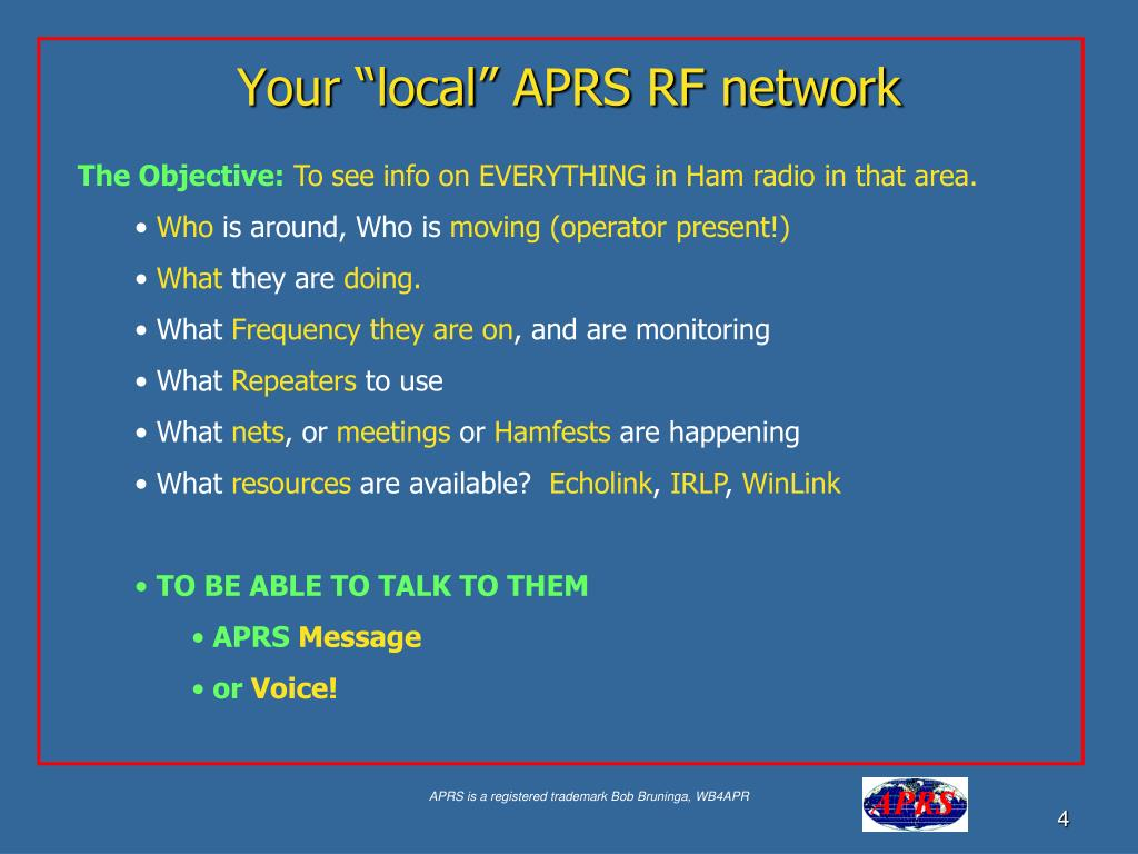 "Your ""local"" APRS RF network"