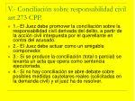 v conciliaci n sobre responsabilidad civil art 273 cpp