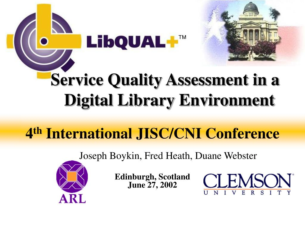 service quality assessment in a digital library environment l.