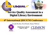 service quality assessment in a digital library environment