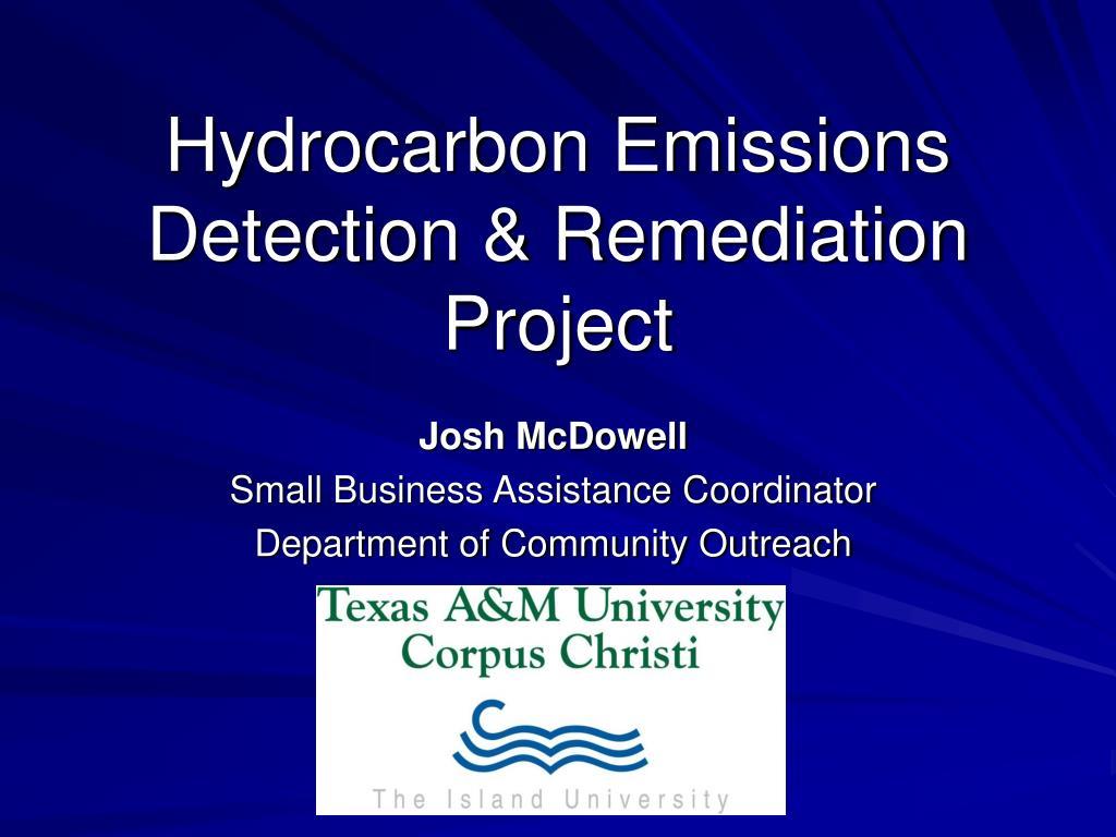 hydrocarbon emissions detection remediation project l.