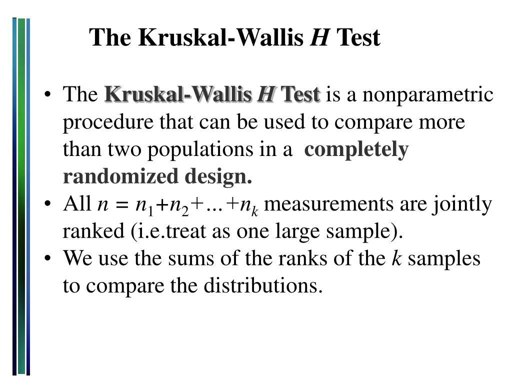 the kruskal wallis h test l.