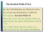 the kruskal wallis h test3