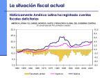 hist ricamente am rica latina ha registrado cuentas fiscales deficitarias