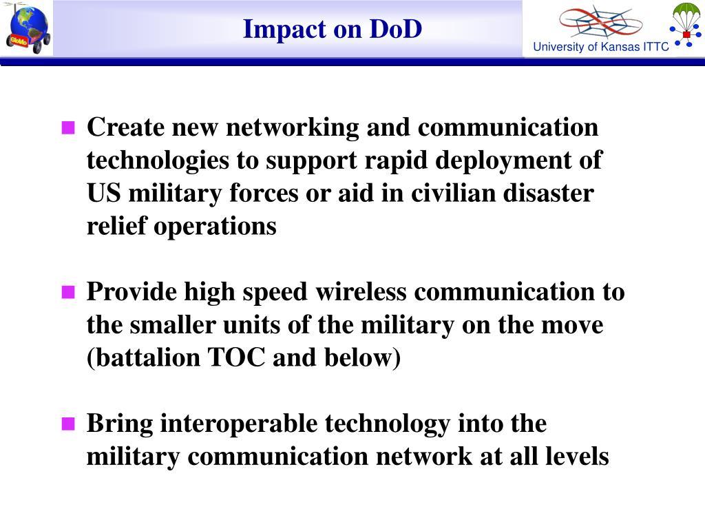 Impact on DoD