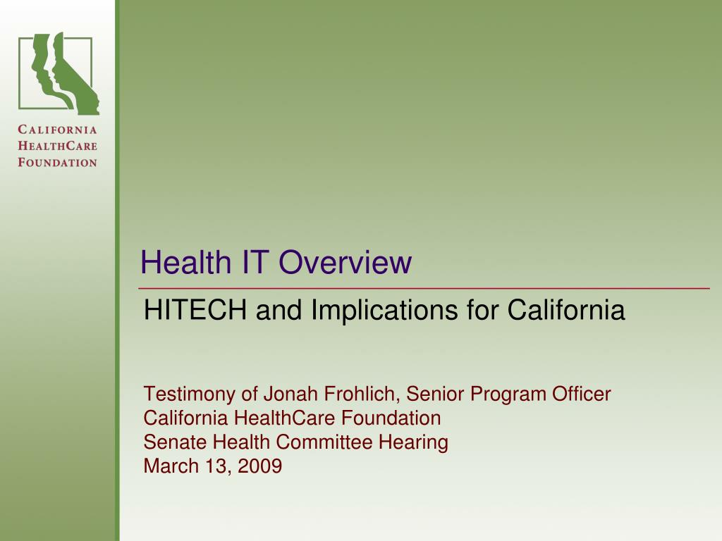 health it overview l.