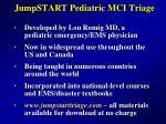 jumpstart pediatric mci triage