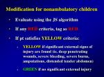 modification for nonambulatory children29